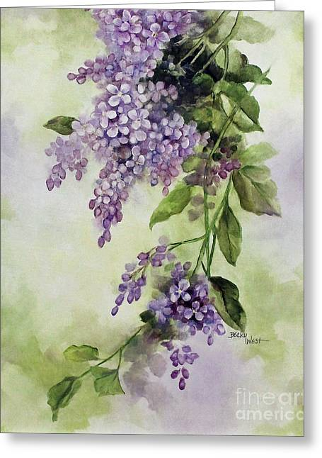 Lilacs Greeting Card by Becky West