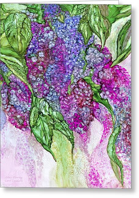 Lilacs Flowing Greeting Card