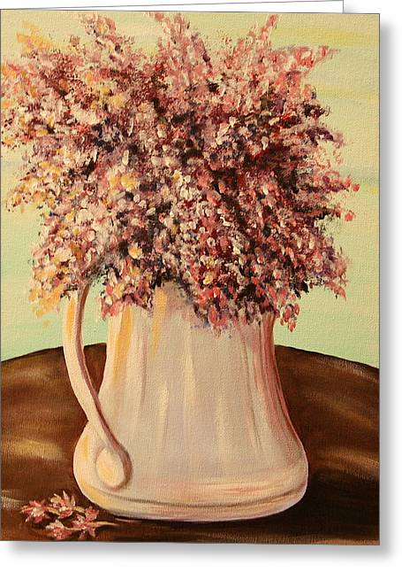Lilacs For Mom Greeting Card by Dyanne Parker