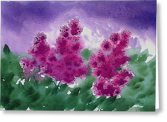 Lilacs Greeting Card by Kelly Miller