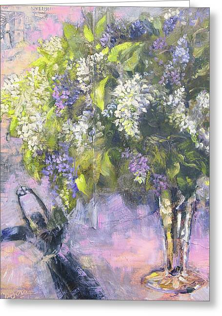 Lilacs Number One Greeting Card by Tracie Thompson