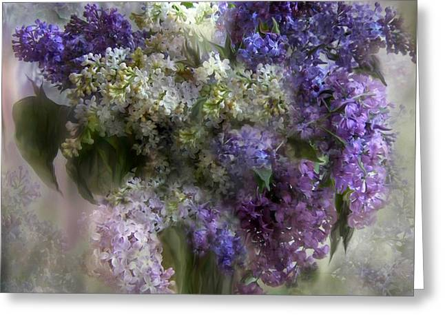 Lilacs Of Love Greeting Card