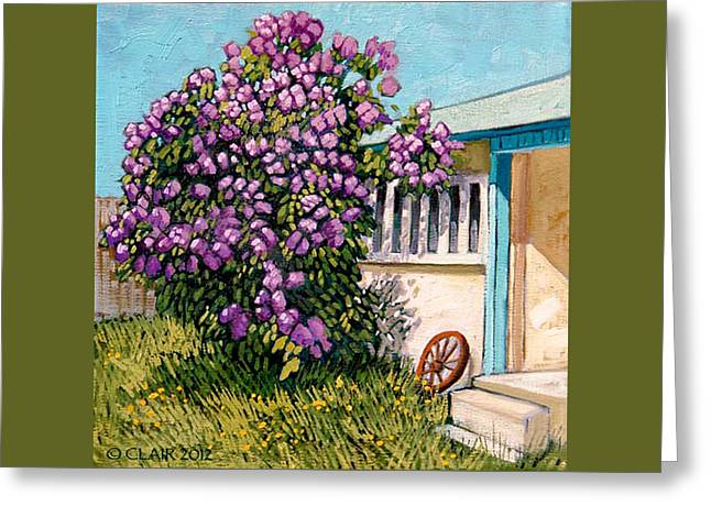 Lilacs Of Taos Greeting Card by Donna Clair