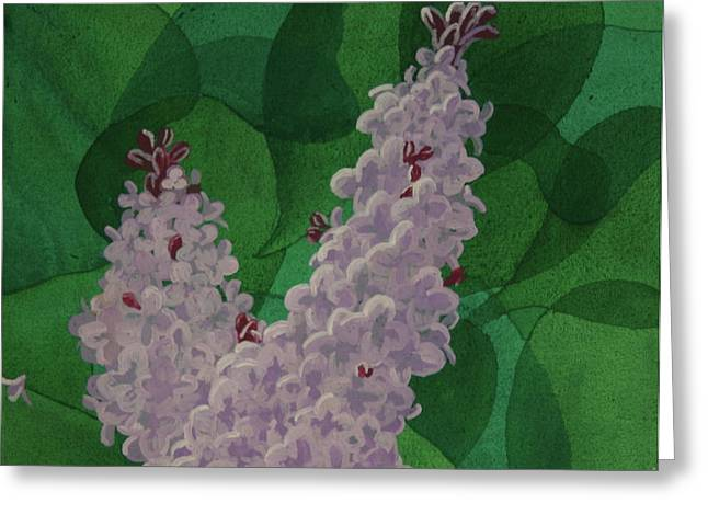 Greeting Card featuring the painting Lilacs by Paul Amaranto
