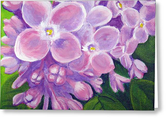 Lilacs Greeting Card by Sharon Marcella Marston