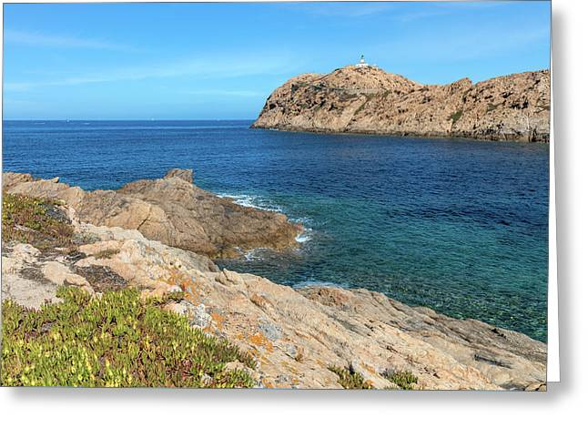 L'ile Rousse In Corsica Greeting Card