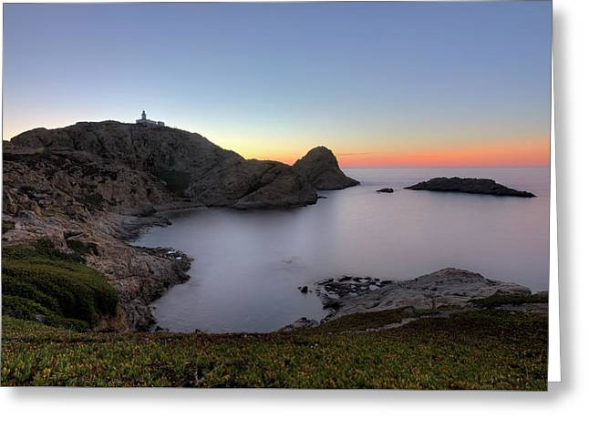 L'ile Rousse In The Evening - Corsica Greeting Card