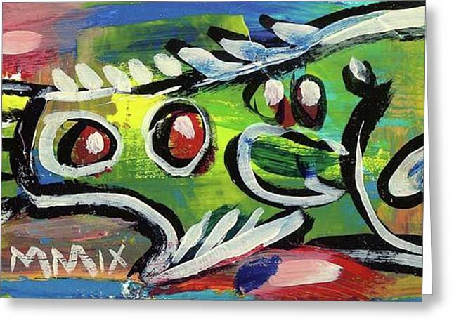 Atlantic Beaches Mixed Media Greeting Cards - LilFunky Folk Fish number thirteen Greeting Card by Robert Wolverton Jr