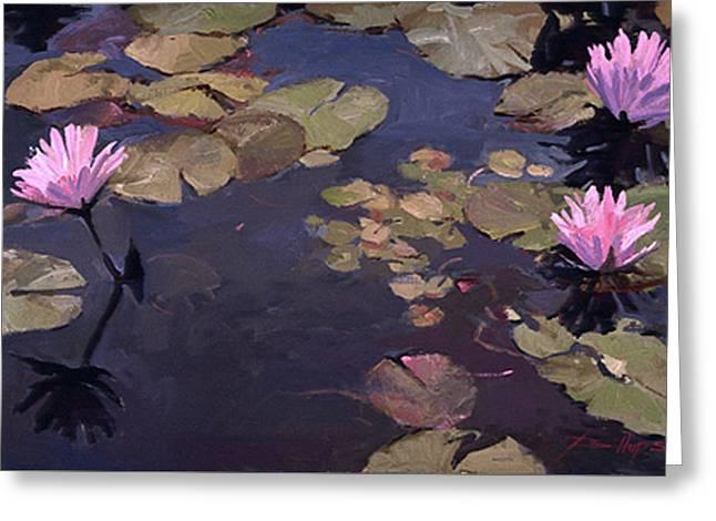 Lilies II - Water Lilies Greeting Card