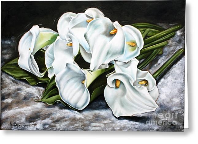 Lilies Greeting Card by Ilse Kleyn