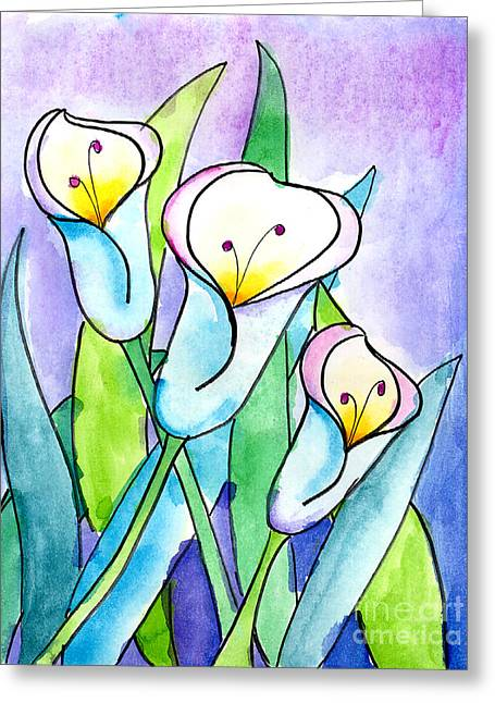 Lilies Greeting Card