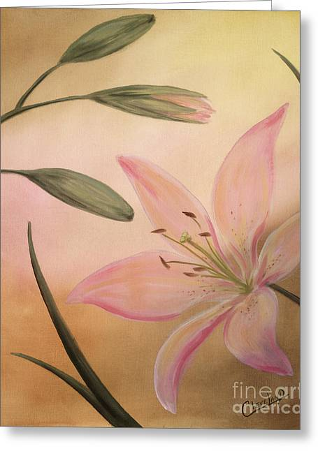 Lilies Part 2 Greeting Card by Cathy Cleveland