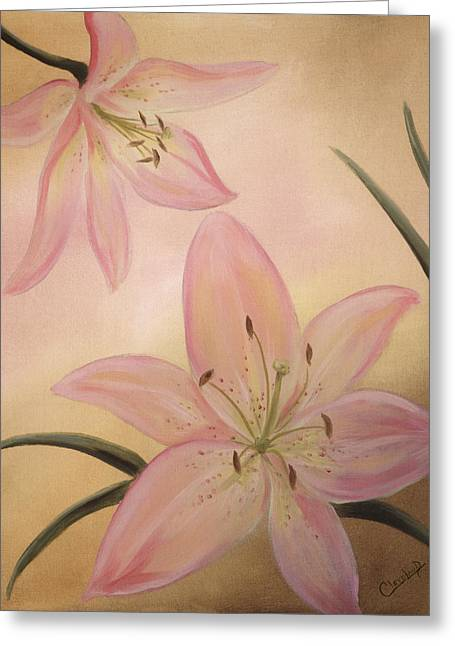 Lilies Greeting Cards - Lilies Part1 Greeting Card by Cathy Cleveland