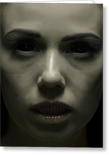 Lilith Greeting Card by Michael Gibbs