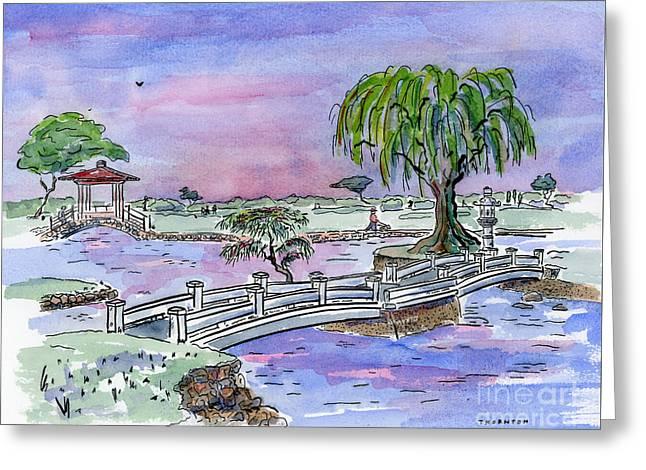 Liliuokalani Park Hilo Hawaii Greeting Card