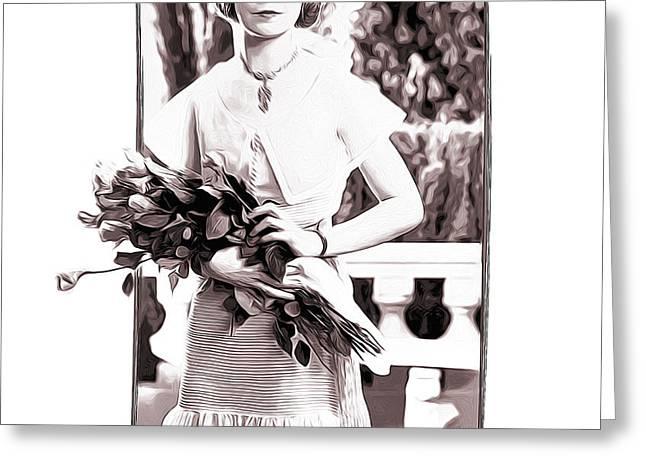 Lillian Gish Greeting Card by Greg Joens