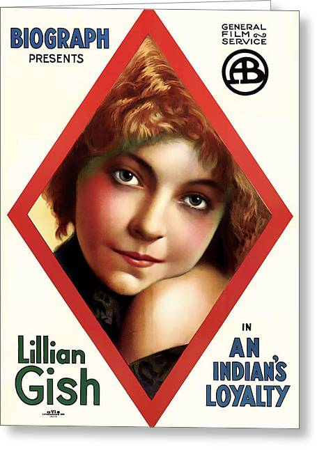 Lillian Gish In An Indian's Loyalty 1913 Greeting Card