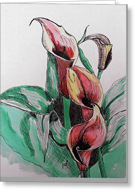 Lillie Greeting Card by Maria Woithofer