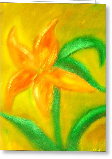 Lilly Greeting Card by BJ Abrams