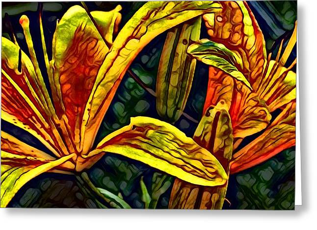 Lilly Fire Greeting Card