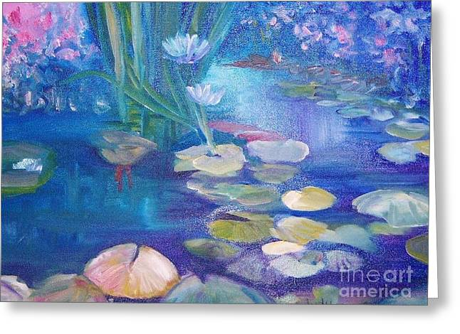 Lillypads Greeting Card by Judy Groves