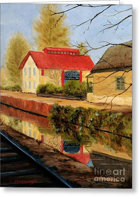 Lilly's On The Canal Greeting Card by Cindy Roesinger