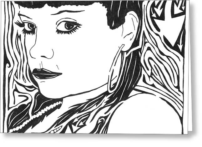 Lily Allen Maze Greeting Card