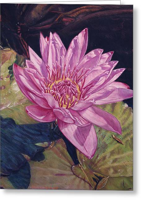 Petals Pastels Greeting Cards - Lily and Her Shadow Greeting Card by Melissa Tobia