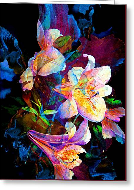 Lily Fiesta Garden Greeting Card by Hanne Lore Koehler