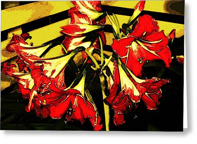 Greeting Card featuring the digital art Lily Gem by Winsome Gunning