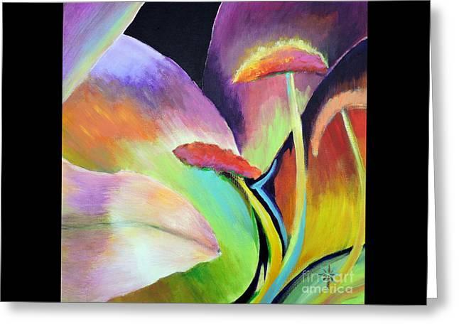 Lily Too Greeting Card by Jodie Marie Anne Richardson Traugott          aka jm-ART