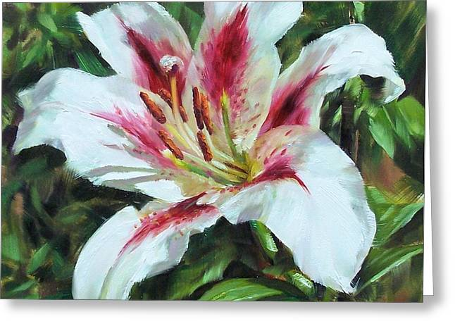 Lily Impression Greeting Card by Donna Munsch