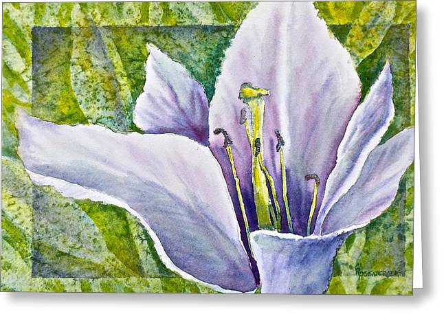 Lily In Purple Greeting Card