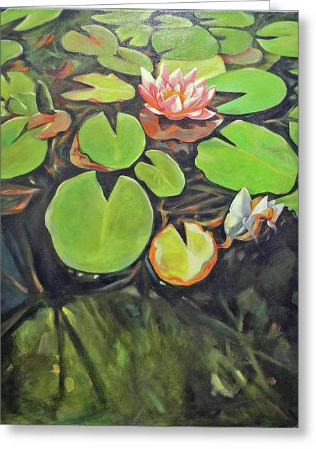 Lily In The Water Greeting Card