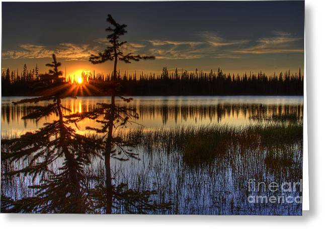 Lily Lake Sunset 2 Greeting Card