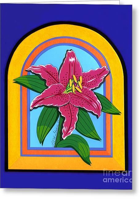 Lily Greeting Card by Lucyna A M Green