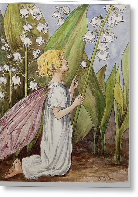Lily Of The Valley Fairy After Cicely Mary Barker Greeting Card