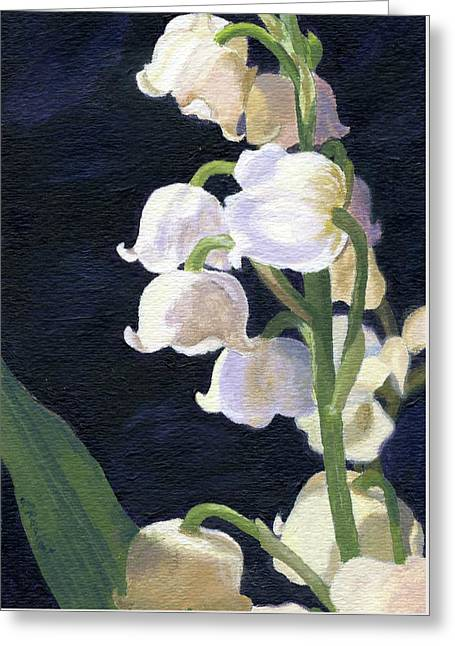 Greeting Card featuring the painting Lily Of The Valley by Lynne Reichhart