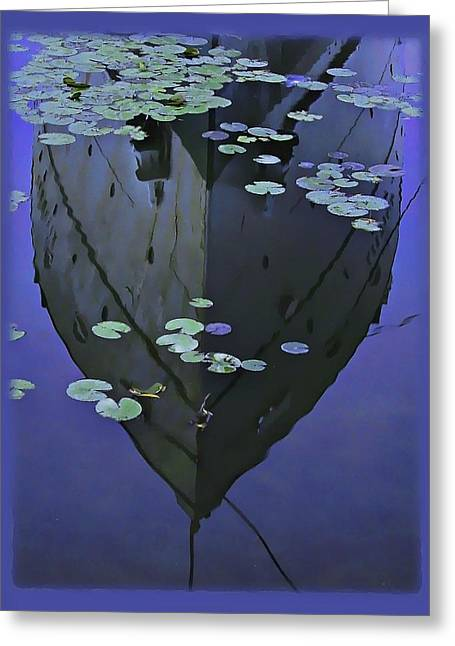 Lily Pads And Reflection Greeting Card by John Hansen
