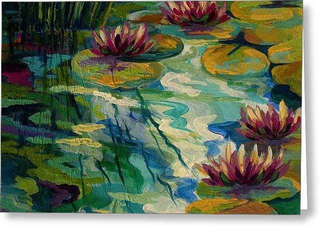 Lily Pond II Greeting Card by Marion Rose