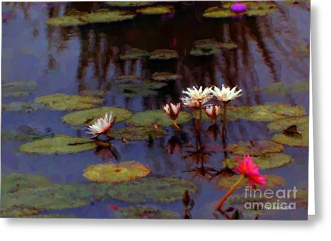 Lily Pond Watercolor Greeting Card