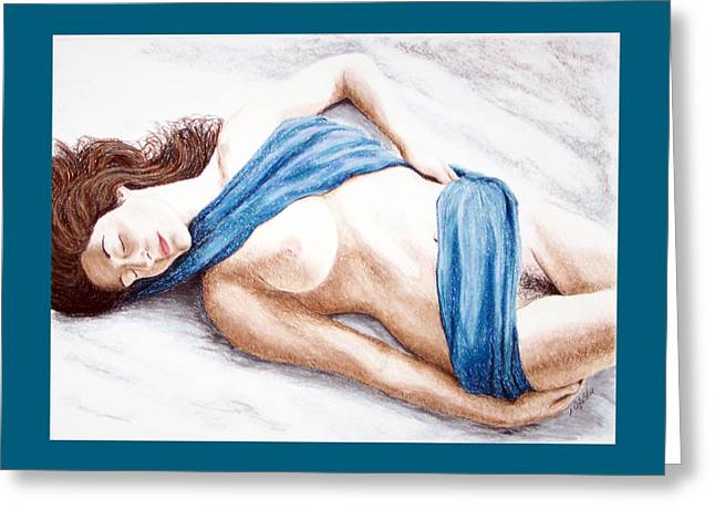 Lily-when Angels Sleep Greeting Card by Joseph Ogle