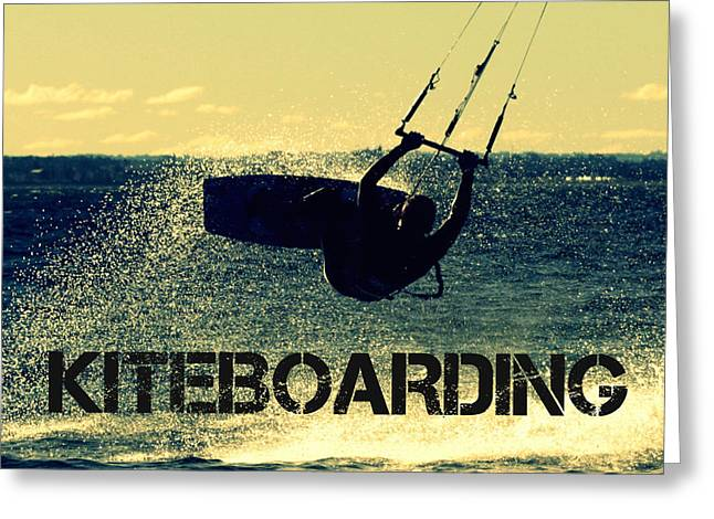 Lily Winds Kiteboarding Greeting Card by Lily Winds