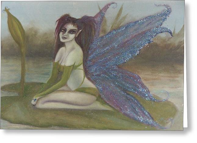 Lilypad Faerie Greeting Card