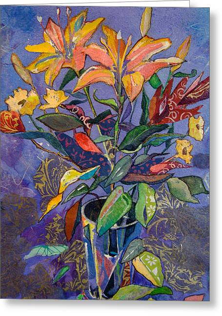 Lilyscape Greeting Card by Marty Husted