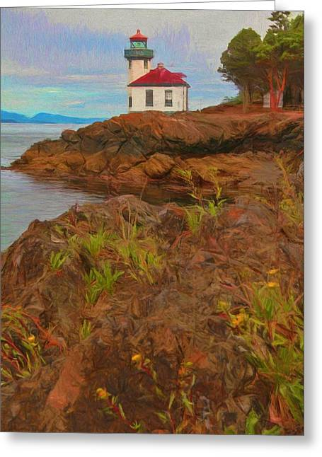 Lime Kiln Lighthouse Greeting Card