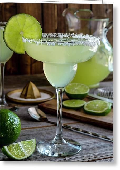 Greeting Card featuring the photograph Lime Margaritas by Teri Virbickis