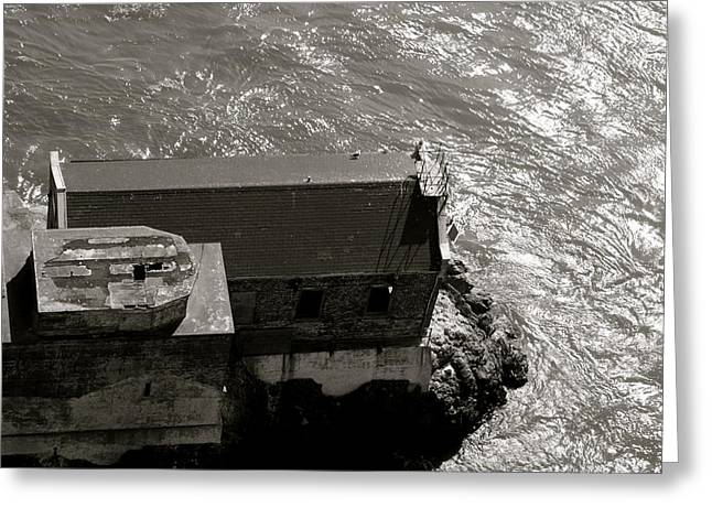 Lime Point Lighthouse Greeting Card by Sonja Anderson