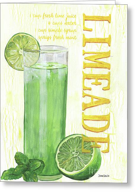 Limeade Greeting Card by Debbie DeWitt