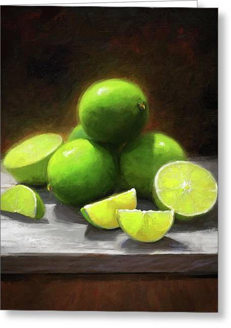 Limes In Sunlight Greeting Card